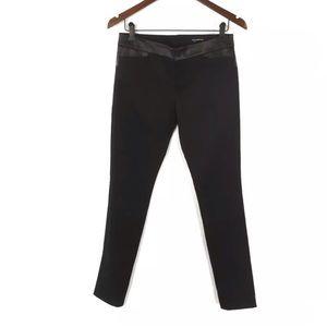 NWOT Club Monaco Leather Trim Pants